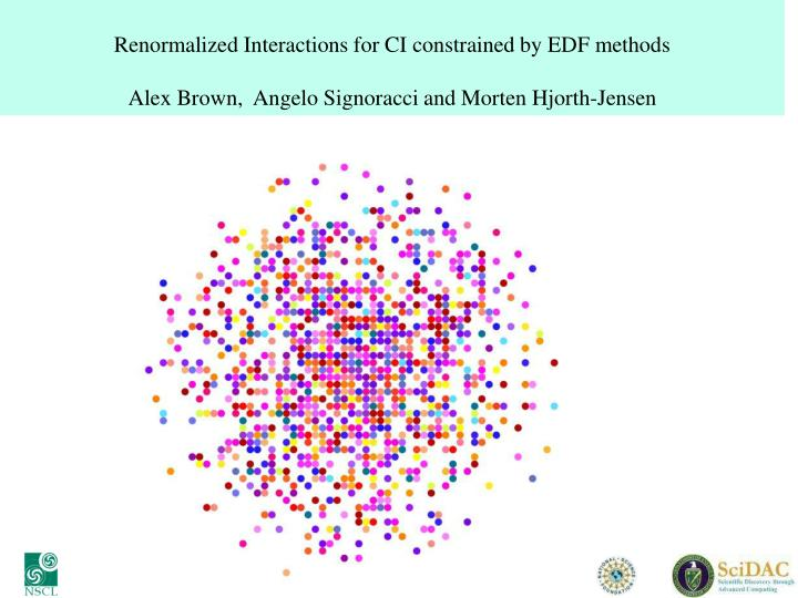Renormalized Interactions for CI constrained by EDF methods