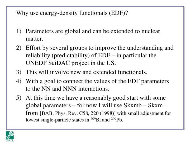 Why use energy-density