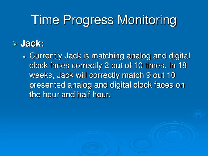 Time Progress Monitoring