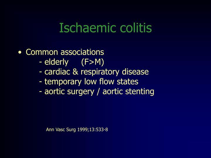 Ischaemic colitis