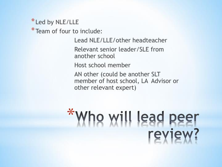 Led by NLE/LLE