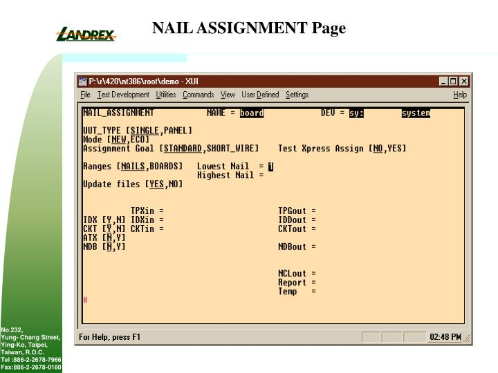 NAIL ASSIGNMENT Page