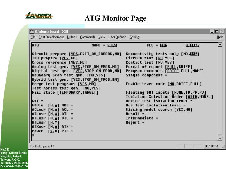 ATG Monitor Page