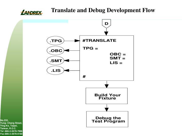 Translate and Debug Development Flow