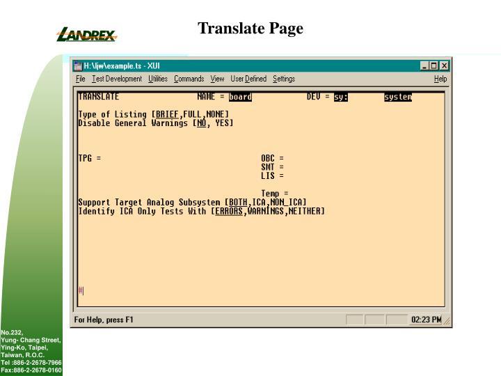 Translate Page