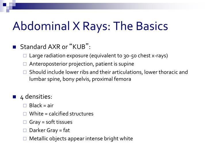 Abdominal X Rays: The Basics