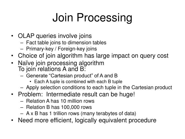 Join Processing