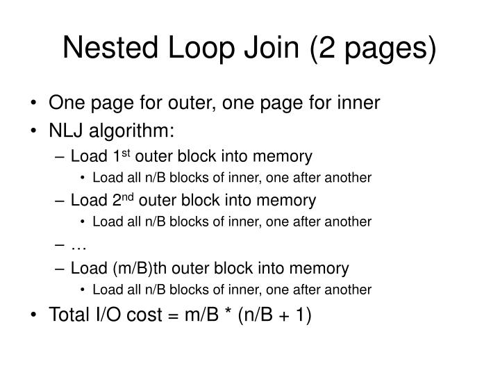 Nested Loop Join (2 pages)