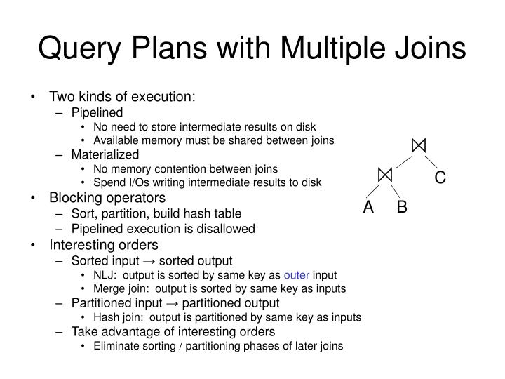 Query Plans with Multiple Joins