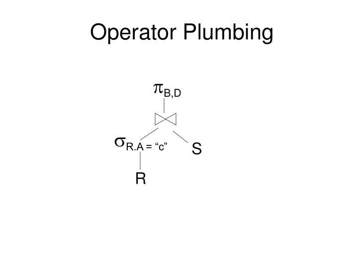 Operator Plumbing