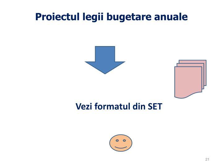 Proiectul legii bugetare anuale