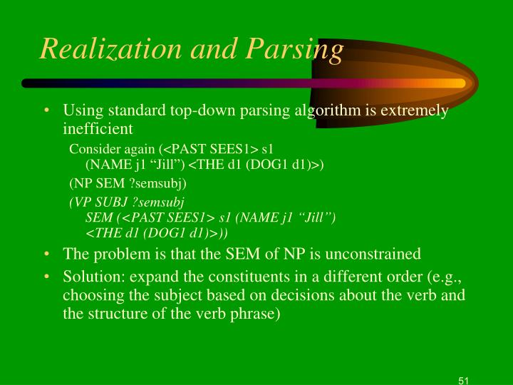 Realization and Parsing