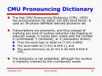 cmu pronouncing dictionary