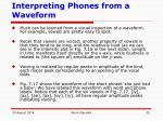 interpreting phones from a waveform