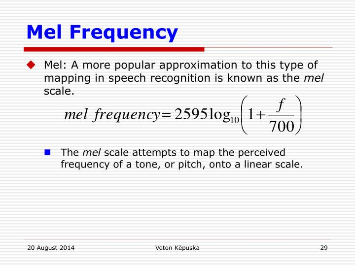 Mel Frequency