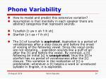 phone variability