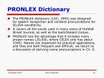 pronlex dictionary