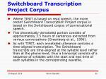switchboard transcription project corpus