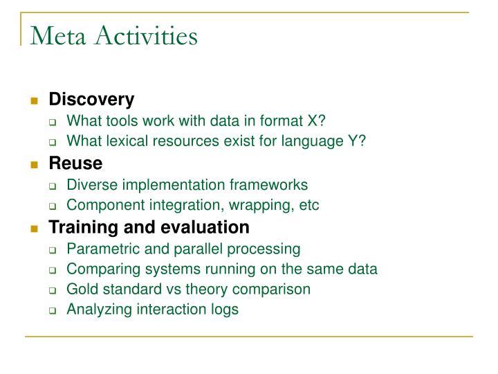 Meta Activities