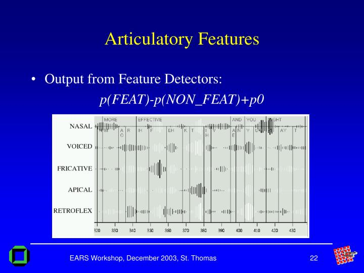 Articulatory Features