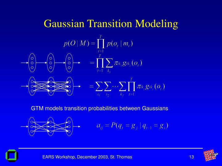 Gaussian Transition Modeling