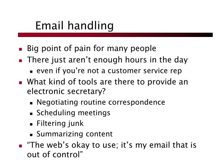 Email handling