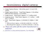 inconsistency digital cameras