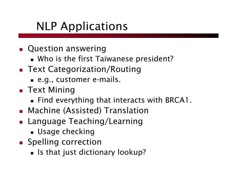 NLP Applications