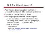 nlp for ir web search1