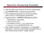 question answering example