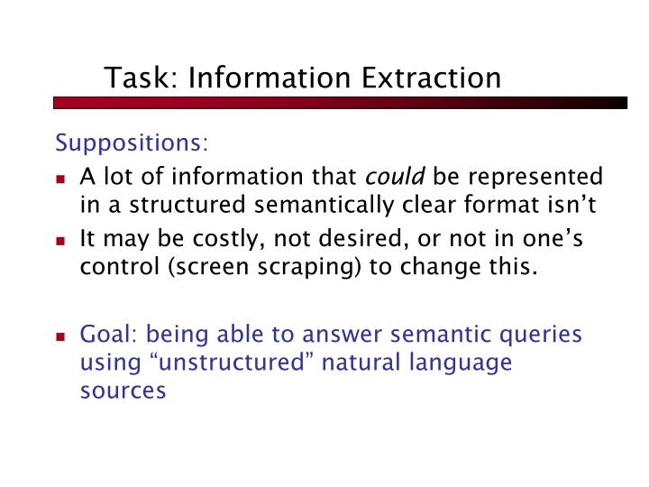 Task: Information Extraction