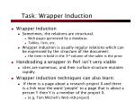 task wrapper induction