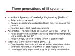 three generations of ie systems