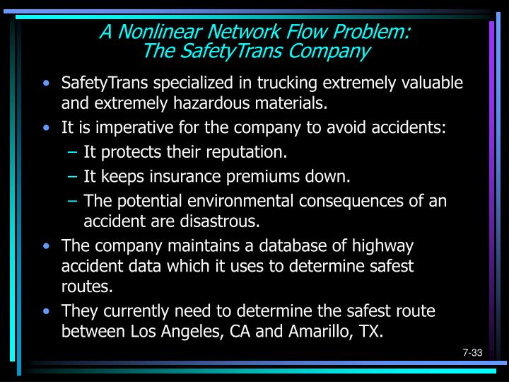 A Nonlinear Network Flow Problem: