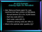 an eoq example ordering paper for metrobank