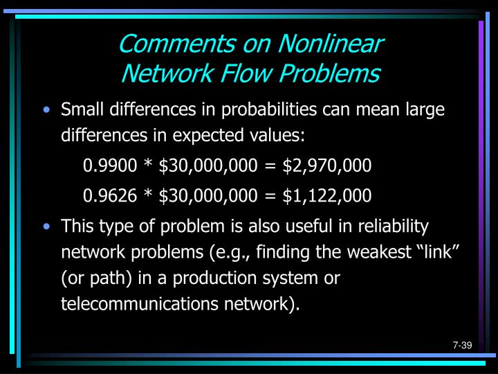 Comments on Nonlinear