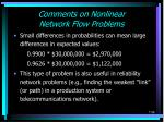 comments on nonlinear network flow problems