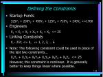 defining the constraints2