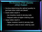 the economic order quantity eoq problem