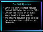 the grg algorithm