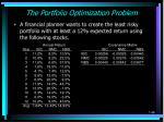 the portfolio optimization problem