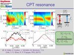 cpt resonance