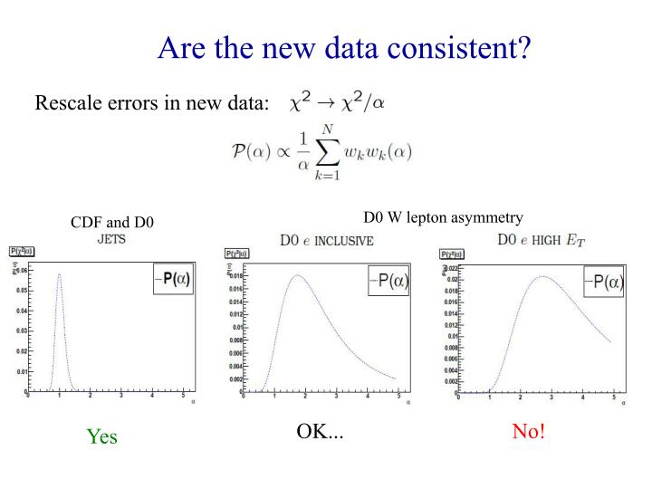 Are the new data consistent?