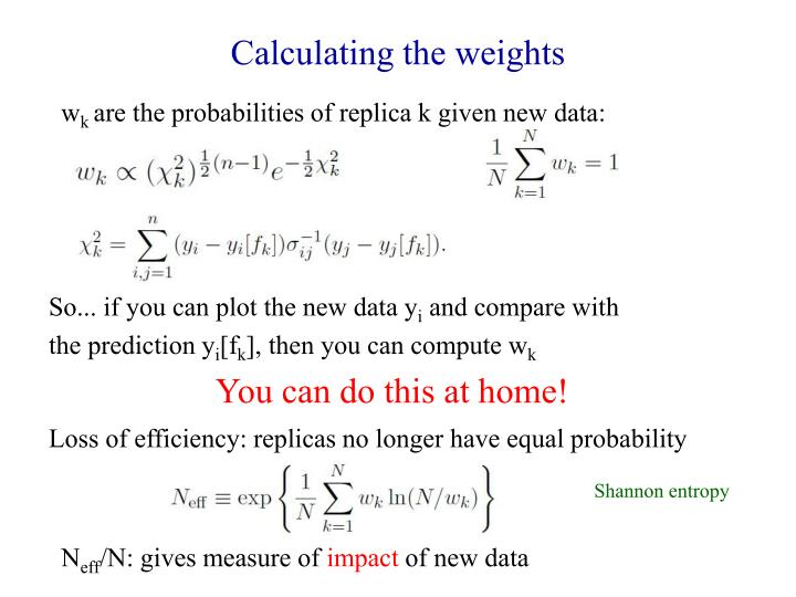 Calculating the weights