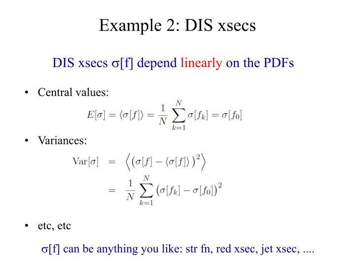 Example 2: DIS xsecs