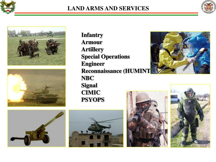 LAND ARMS AND SERVICES