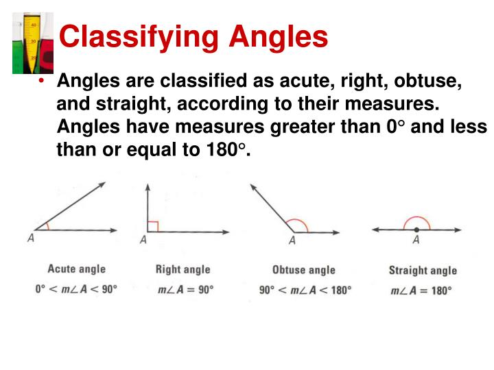 Classifying Angles