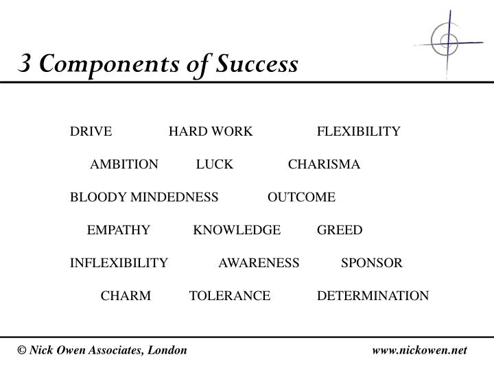 3 Components of Success