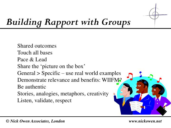 Building Rapport with Groups