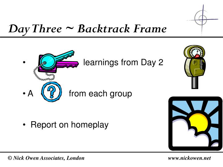 Day Three ~ Backtrack Frame
